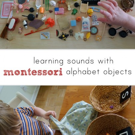 learning sounds with montessori alphabet objects
