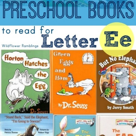 preschool books for the letter e