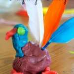 playdough turkey making time