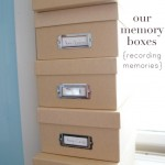 keeping a memory box {recording memories}
