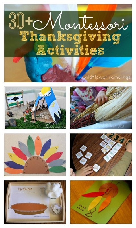 Montessori Thanksgiving Activities from Wildflower Ramblings