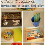 our shelves: invitations to play and learn