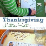 Thanksgiving Letter Sort