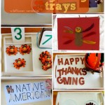 Montessori Thanksgiving Trays