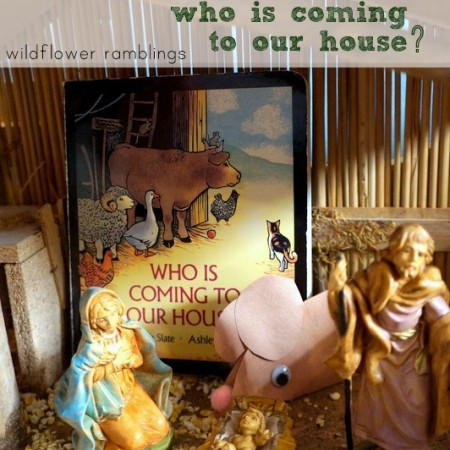 Who is Coming to Our House? {Nativity Sensory Bin}