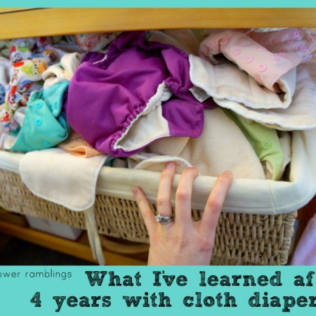 lessons from cloth diapering after four years