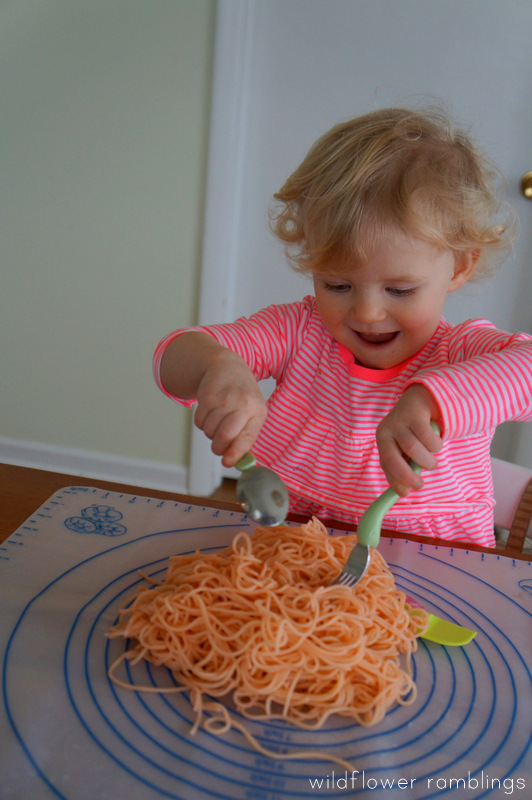Spaghetti Sensory Play For Valentine S Day Wildflower