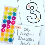 Flower Counting Cards & Book {free printable}