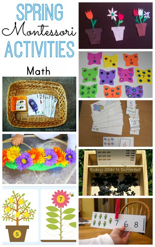 Montessori Spring Math Activities - over 40 preschool ideas
