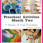 preschool activities: month two {printable four week schedule!}