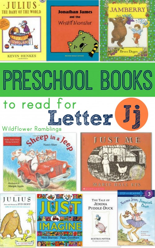 preschool books for the letter j