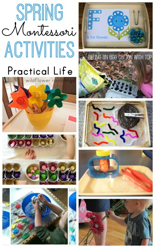 Montessori Spring Practical Life Activities - over 40 preschool ideas