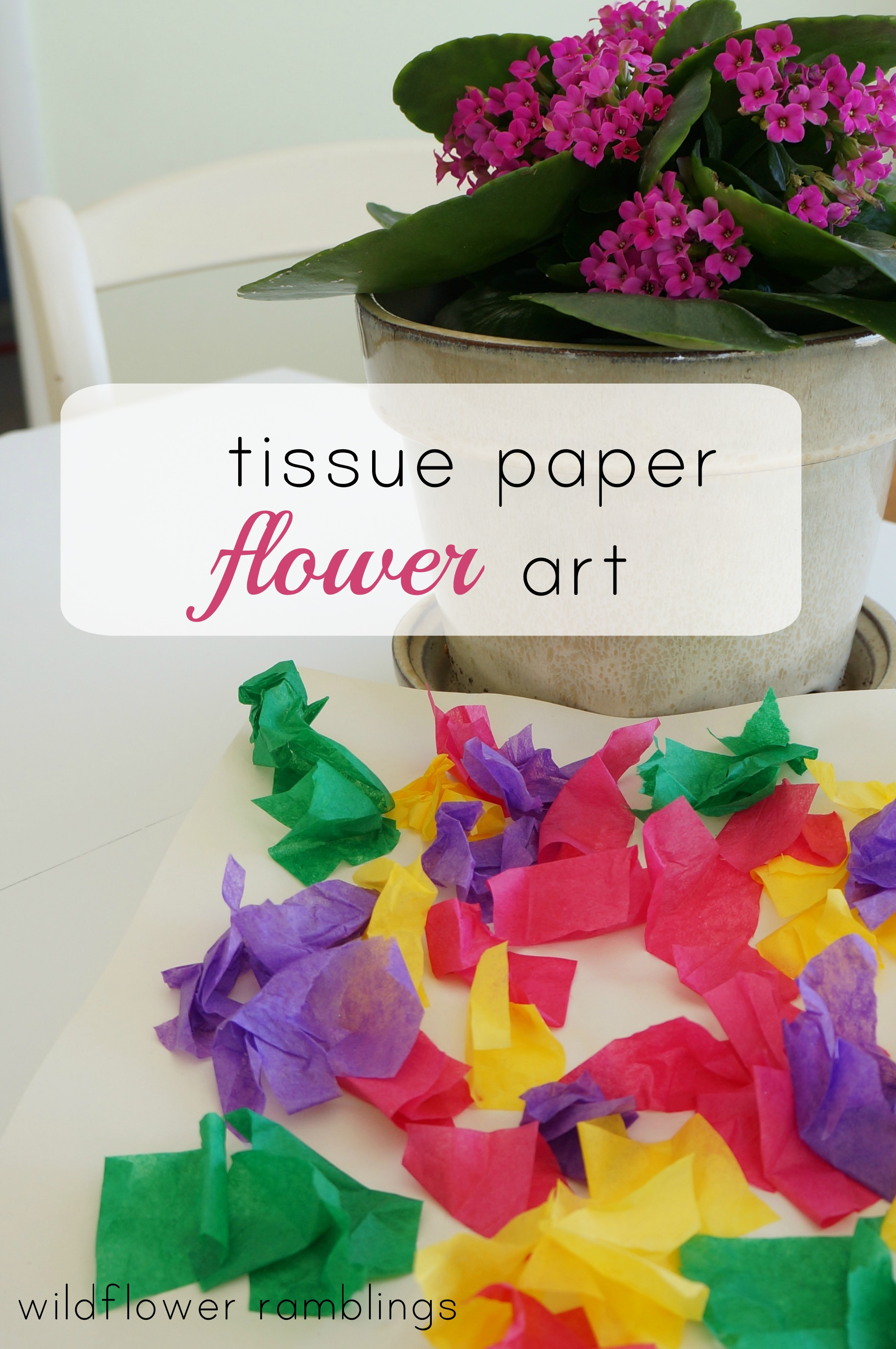 Tissue Paper Flower Art Wildflower Ramblings