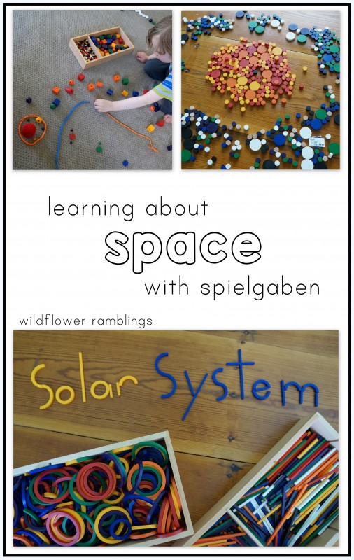 learning about space with spielgaben -- creating with beautiful hands on wooden manipulatives!!