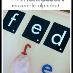 Matching letters with Montessori alphabet materials