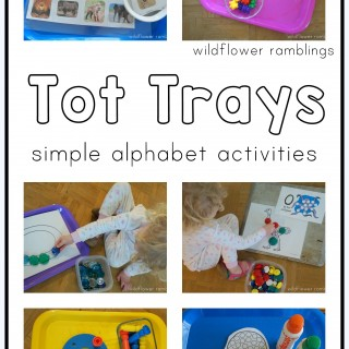 tot trays for early learning
