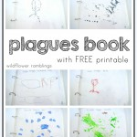 make your own plagues book {free printable}