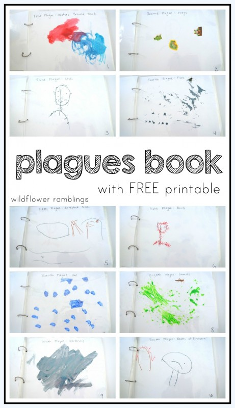 Ten Plagues on Egypt Plagues Book with FREE printable - lots of BIBLE crafts!!