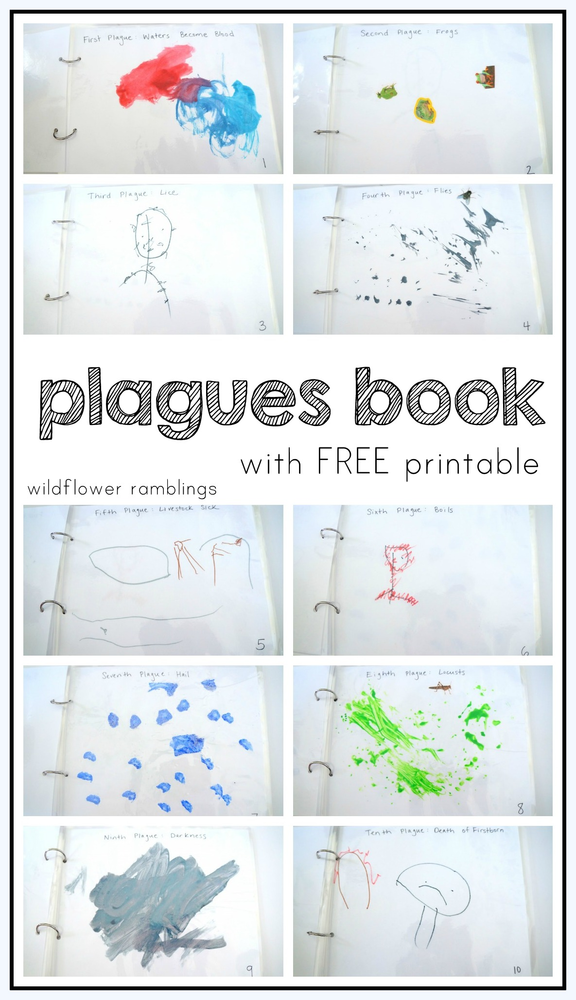 graphic regarding 10 Plagues Printable known as deliver your personalized plagues ebook free of charge printable - Wildflower