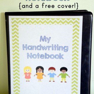 Preschool Handwriting Notebook {free printable!}