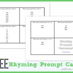 Why should I rhyme with my child? {free printable}