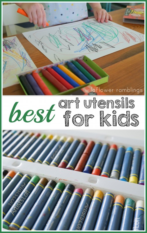 best art utensils for kids - GREAT list for respectful art with ALL AGES!!