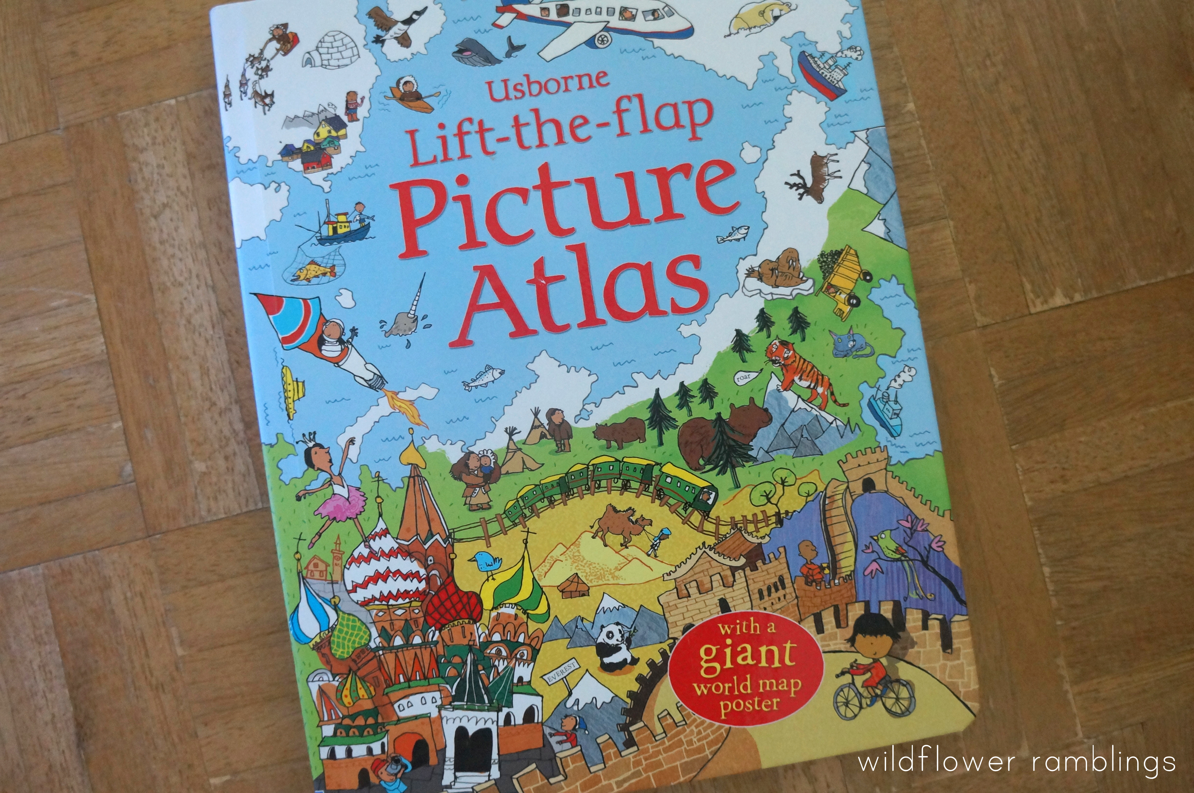we also love the childrens picture atlas there is so much information about differences in land forms and cultures there are also suggestions for how you