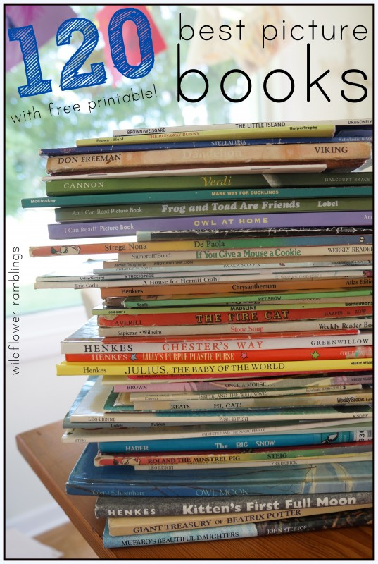best picture books for kids - reading to your children every day!  preschool and early learning blog!