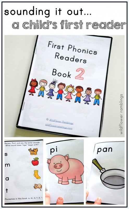first phonics readers -- printable books for sounding it out for kindergarten or preschool!