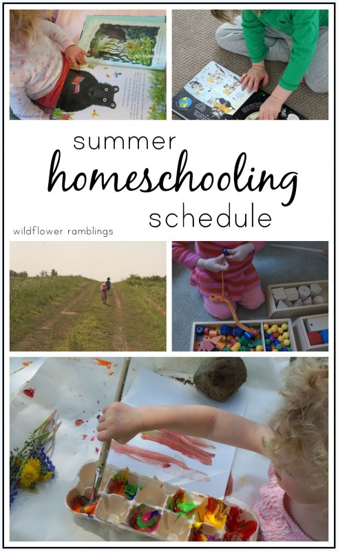summer homeschooling schedule for preschool and kindergarten!