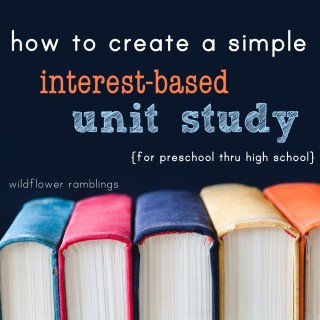 creating a simple unit study