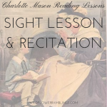 Charlotte Mason Reading Lessons: Recitation