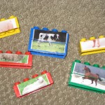 Lego farm animal matching game