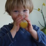 Teaching practical life skills – just give the kid a real glass!