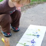 hammering flower prints