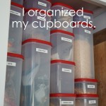 How I organized my kitchen cupboards