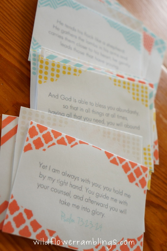 Bible learning & character building cards: {free resources!} - Wildflower Ramblings