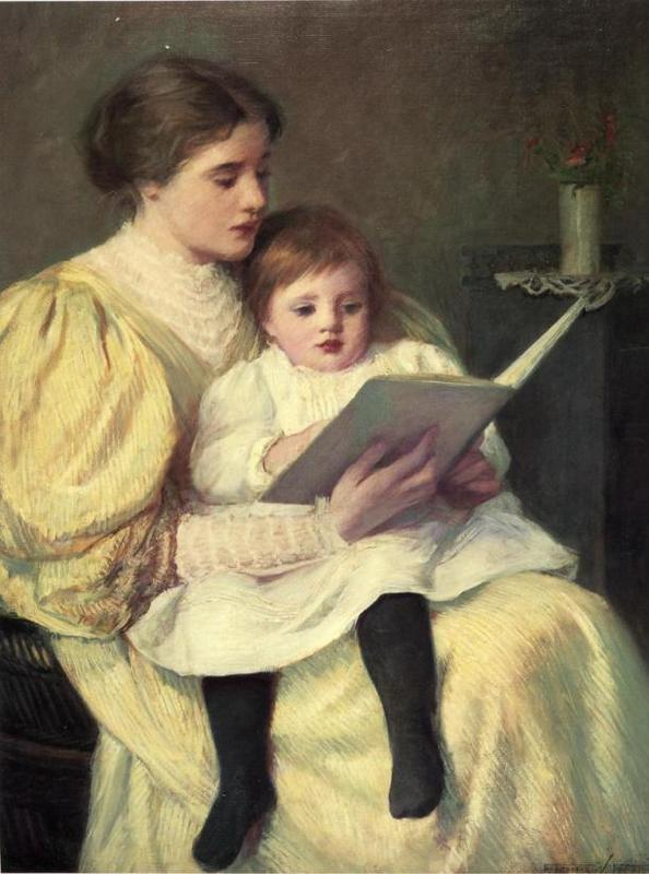 mother-reading-frederick-warren-freer