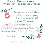 Merry Christmas! {free Isaiah 9:6 printable poster}