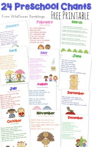 24 Preschool Chants by Month