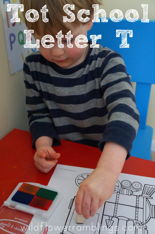 Tot School: Letter T - Wildflower Ramblings