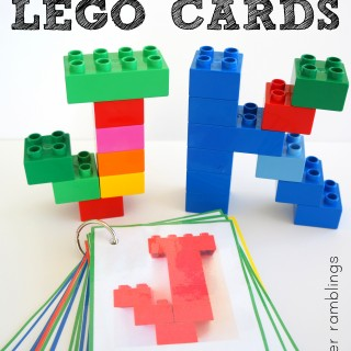 Free Printable alphabet Lego cards!
