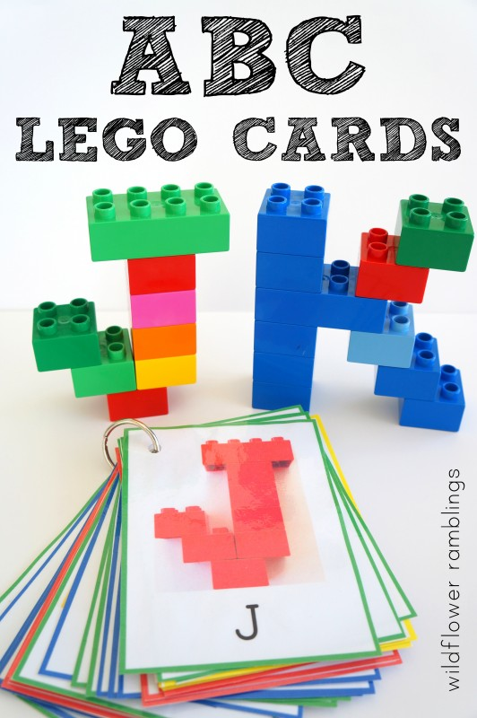 Free printable ABC Lego Cards!