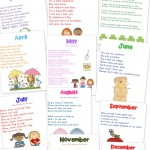 24 Preschool Chants by Month {free printable!}