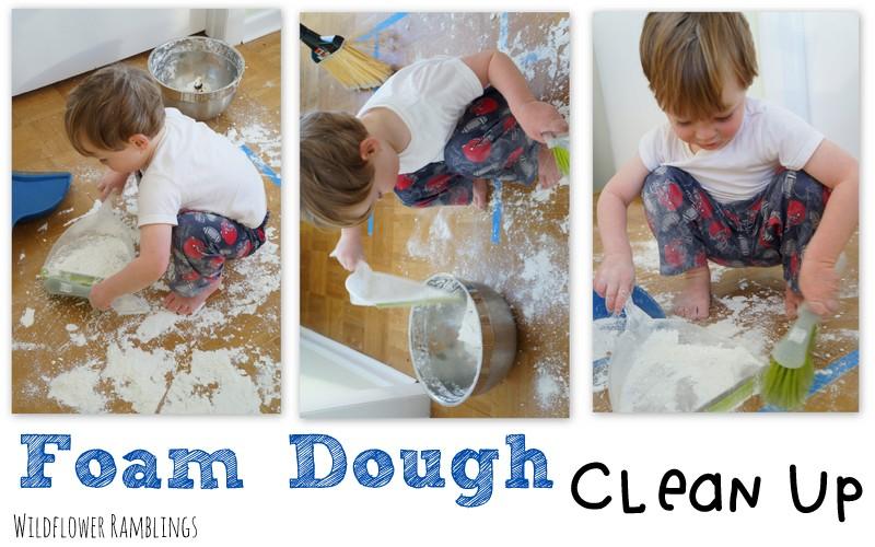foam dough {12 months of sensory dough}