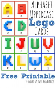 Alphabet Lego Cards: Uppercase