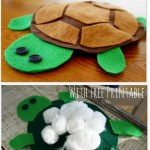 How to make a Felt Turtle {ABC Animals in Felt}