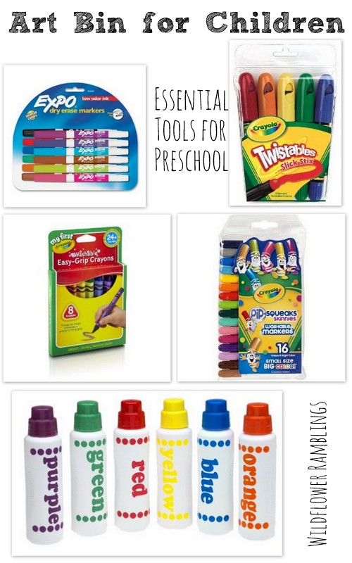 learning tools for children {our essential preschool materials} - Wildflower Ramblings
