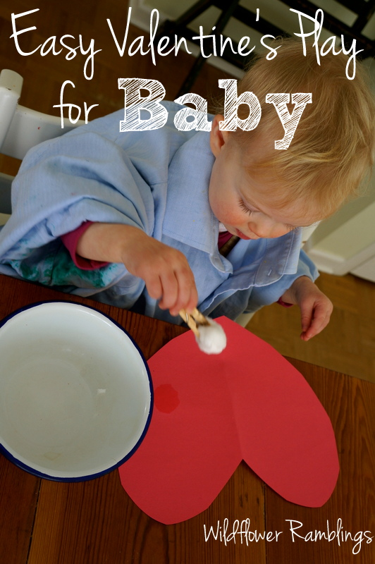 Valentine's Day: Easy Heart Crafts for Baby from Wildflower Ramblings