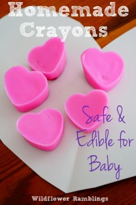 Homemade Heart Crayons